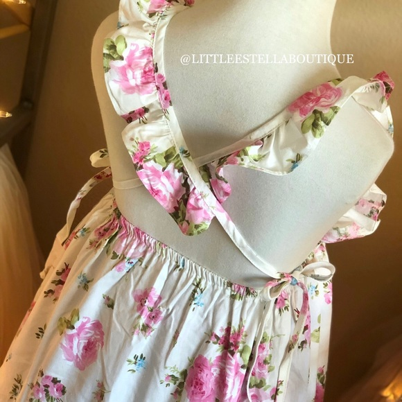 Other - NWT Girls White Pink Floral Summer Dress Set